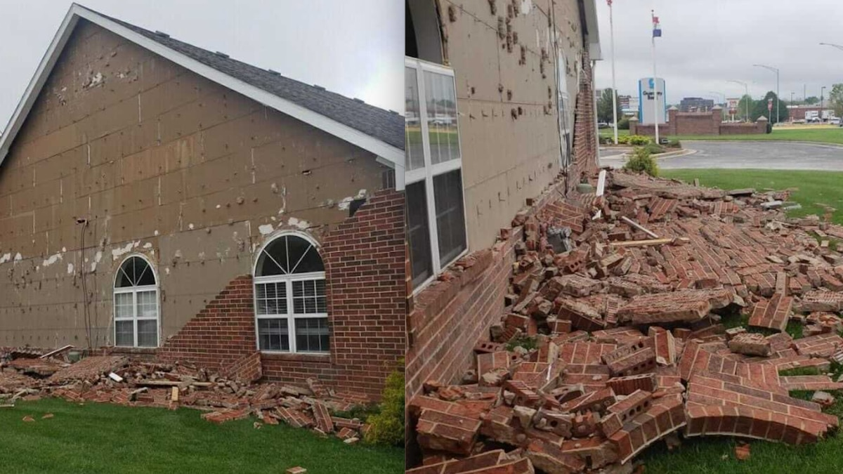 The Kelly Greens Apartments on National Avenue ended up with damage along the side of some...