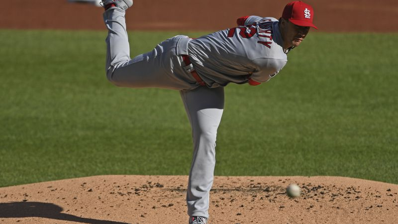 St. Louis Cardinals starting pitcher Jack Flaherty delivers during the first inning of a...