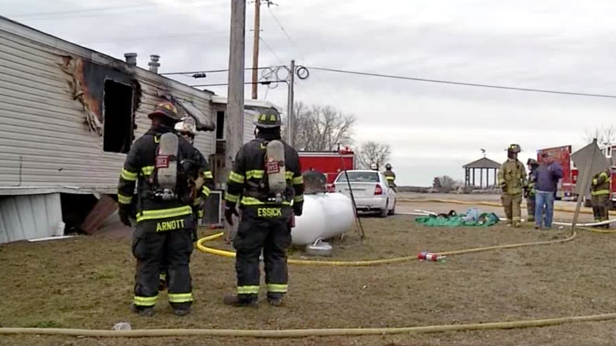 A fire has gutted a mobile home Thursday afternoon in Sparta, Missouri.