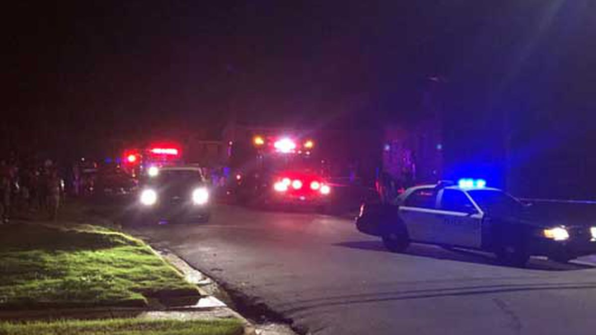 The scene at the Elizabeth Canty Apartment Complex on Wednesday night. (Source: WTVM)