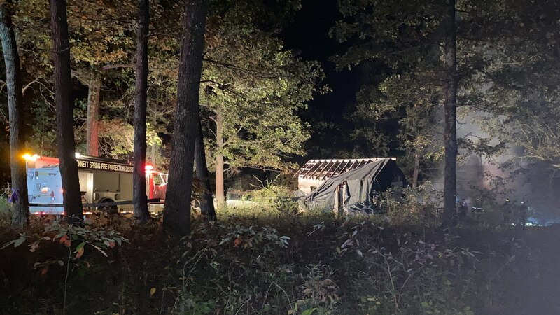 House of Dallas County, Mo. man accused of kidnapping Cassidy Rainwater burns to the ground.