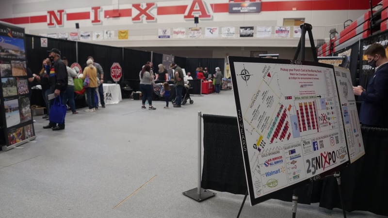 Nixa Chamber of Commerce hosted the Nixpo business showcase today at Nixa high school....