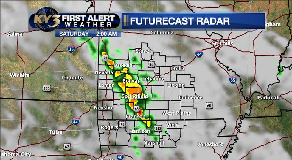 A few showers and storms tonight