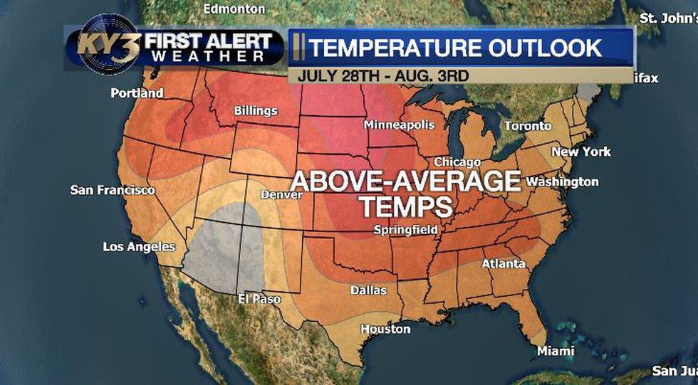 Warm temperatures until August