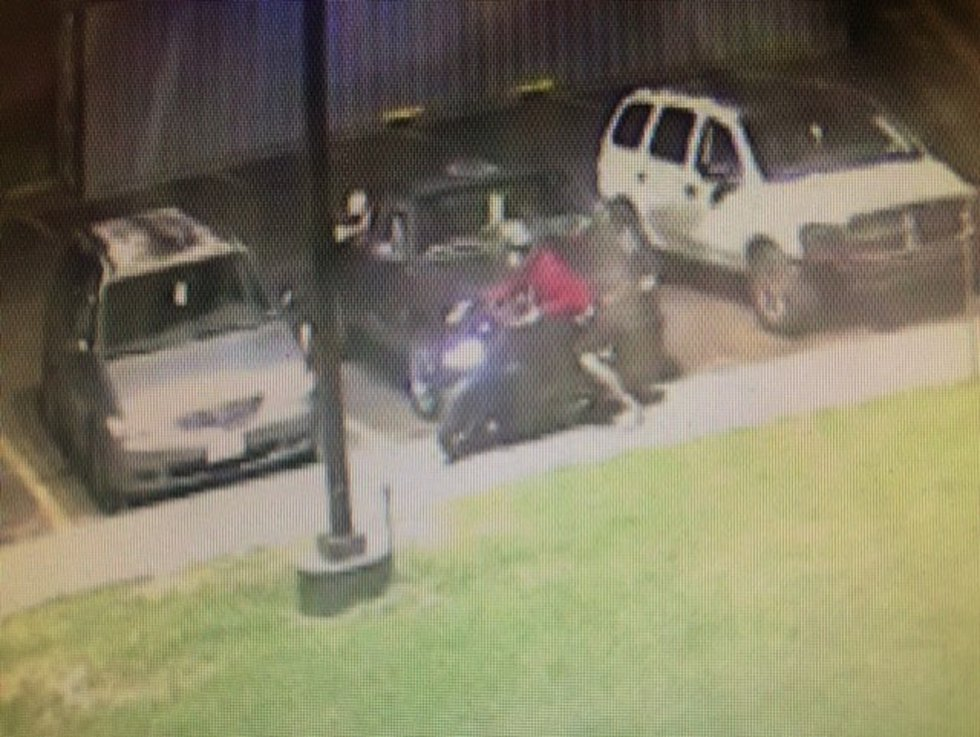 Security cameras captured the man riding the $5,000 bike to some Springfield apartments.