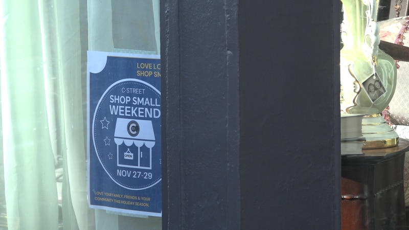 Shoppers were out out today for Small Business Saturday and local businesses say shopping local...