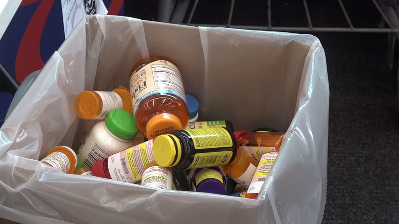 Today, people across the country dumped their unused prescription drugs.
