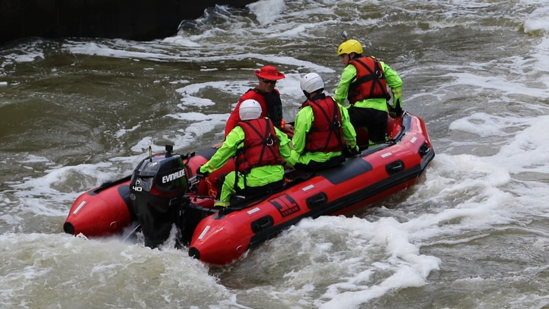 With this training first responders now have the skills to get in water that could be...