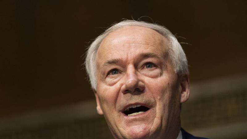 Arkansas Gov. Asa Hutchinson testifies before a Senate Judiciary Committee hearing on Federal...