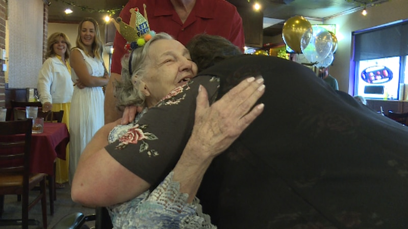 100 year-old Gwen Northington was greeted by over 50 family and friends on Friday for a...