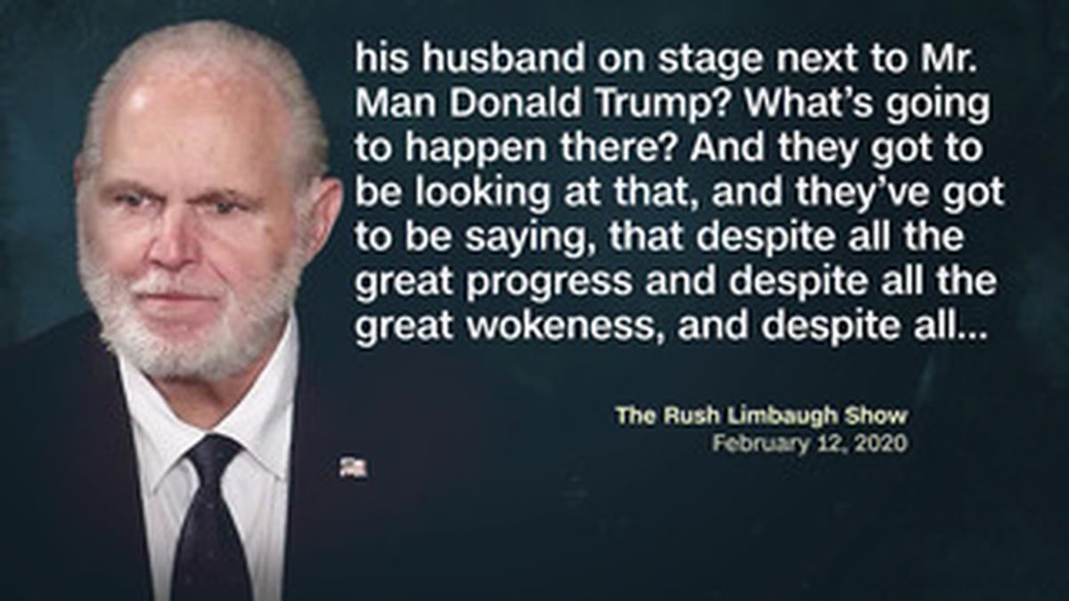 Rush Limbaugh is a Trump ally and made the remarks Wednesday on his nationally syndicated radio show. (Source: Pool, The Rush Limbaugh Show, CNN)