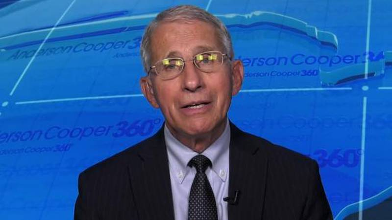 Dr. Anthony Fauci said he's hoping for an uptick in the administration of COVID-19 vaccinations...