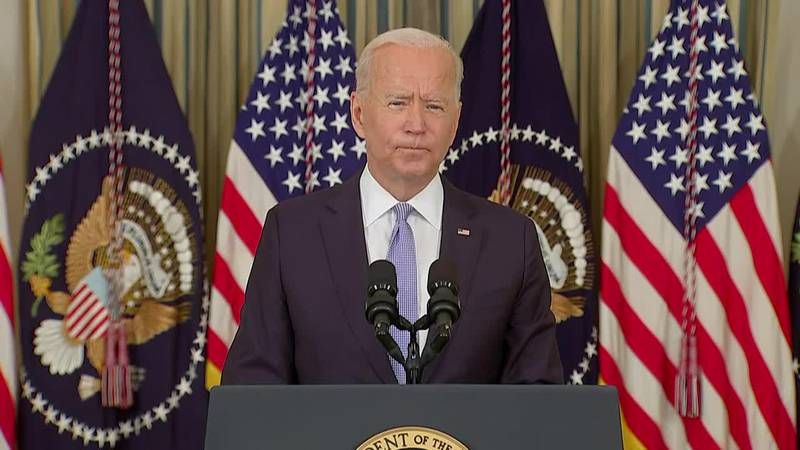 President Joe Biden urged Americans who are eligible to get COVID-19 vaccine booster shots.