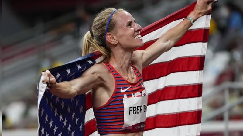 Frerichs with Flag