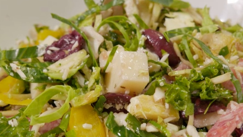 Taste of the Ozarks: Italian Chopped Brussels Sprouts Salad