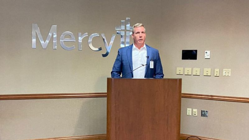 Craig McCoy addressed Mercy's response to an influx of COVID-19 and other emergent patients in...