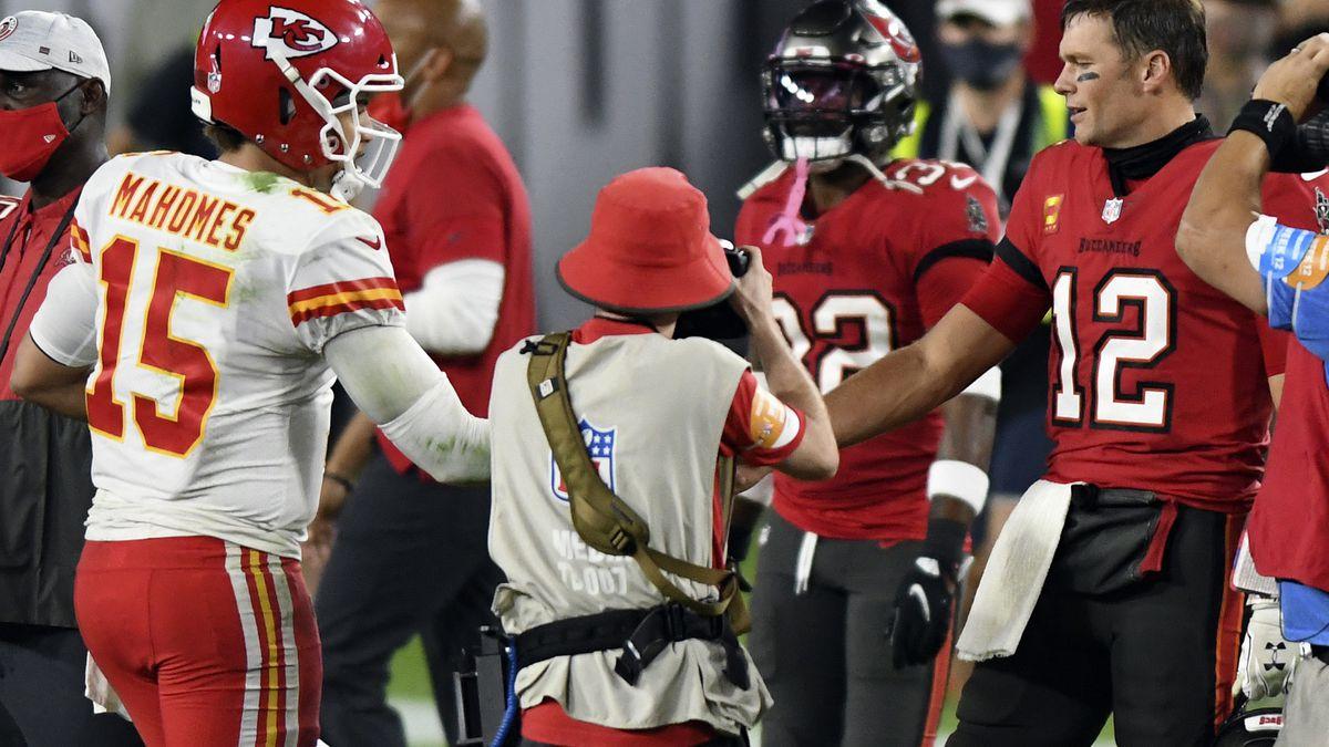 FILE- In this Nov. 29, 2020, file photo, Tampa Bay Buccaneers quarterback Tom Brady (12)...
