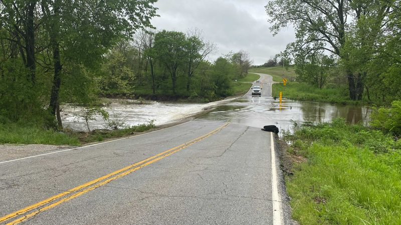 Flooding has particularly impacted the Ava, Missouri community, where a portion of Highway Y...