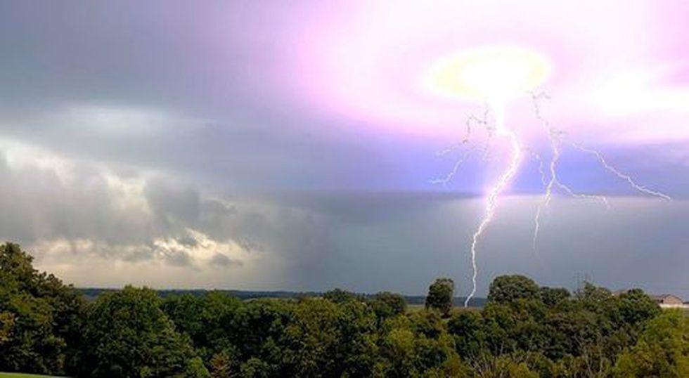 Stormy Sunday in Reeds Spring, Missouri.