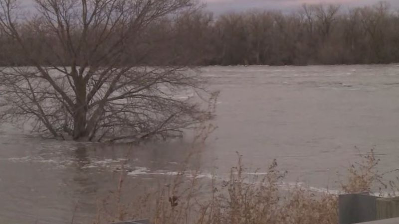 Waters rise high at the Platte and Loup River near Columbus back in March.