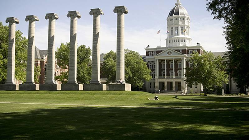 The Columns and Jesse Hall, University of Missouri - Columbia