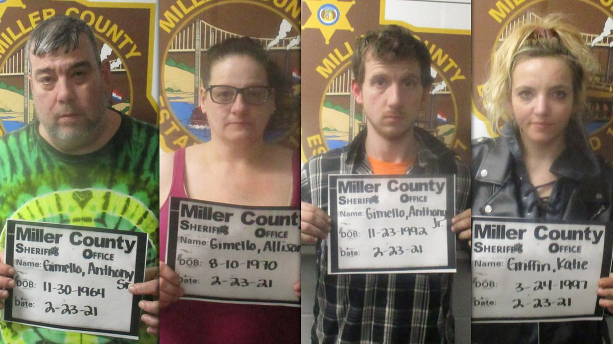 Deputies arrested four people Tuesday while serving a warrant in a narcotics investigation in...