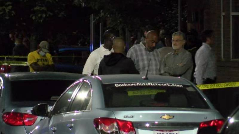 A large number of Cleveland police officers responded to the scene of a suspected shooting near...