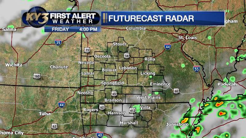 Isolated showers east today