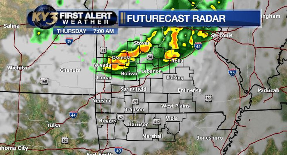 A few morning storms are possible Thursday