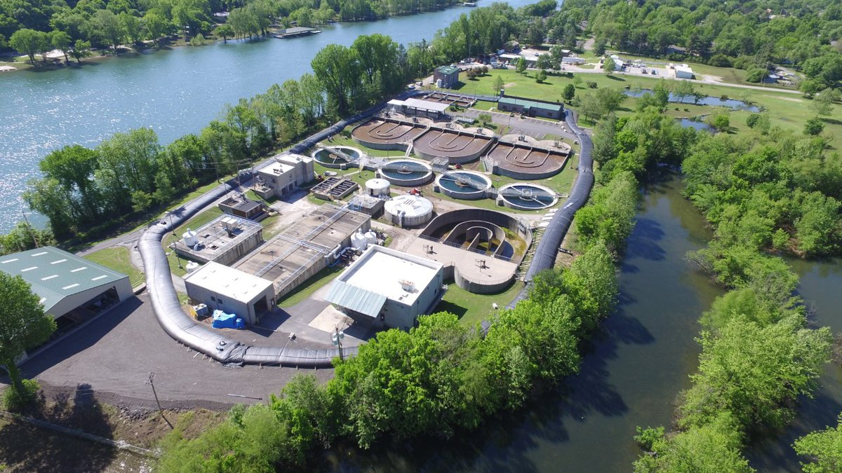 Picture Courtesy of The City of Branson:  The Compton Drive Wastewater Treatment Plant...