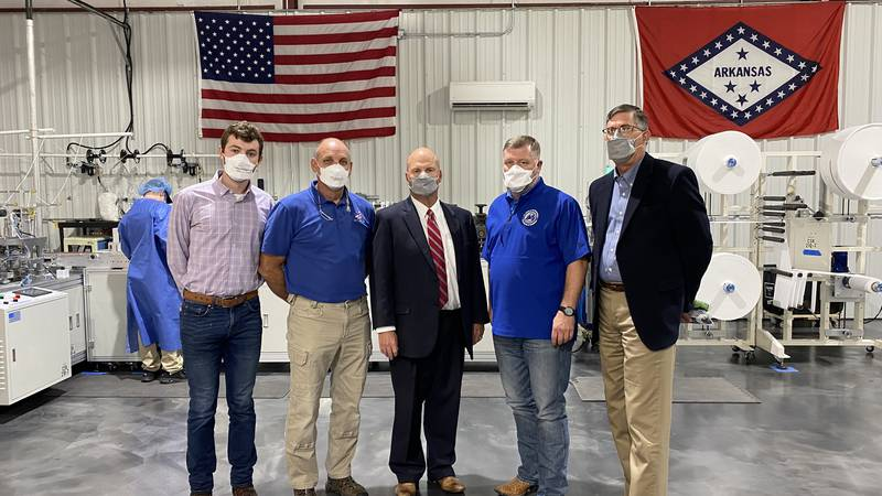 A Mountain Home factory produced over 300,000 masks for public schools in four days.