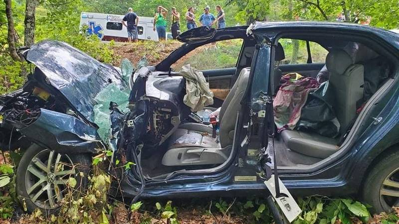 A woman was trapped in car for 12 hours after a car crash in Douglas County