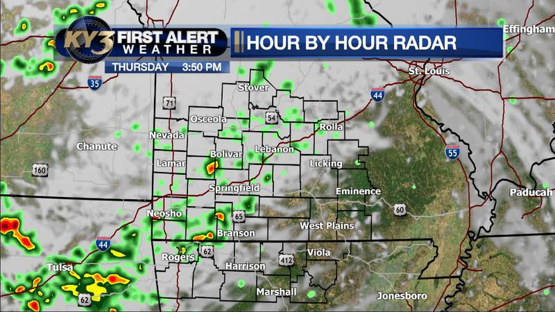 Widely scattered showers and storms are possible today as upper low pressure moves in from the...