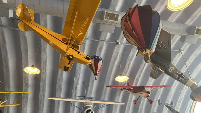 This Hangar Kafe is a restaurant located on an air strip where diners can watch sky divers land...