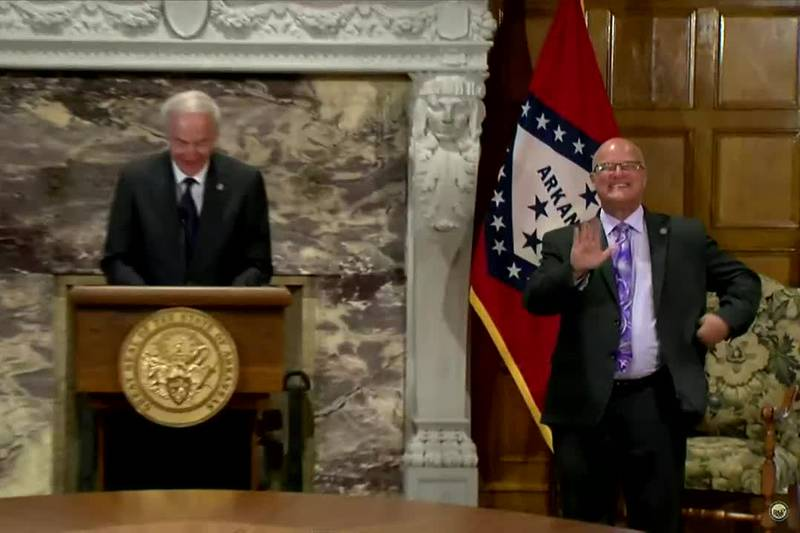 Governor Hutchinson addresses COVID-19 spread in Arkansas