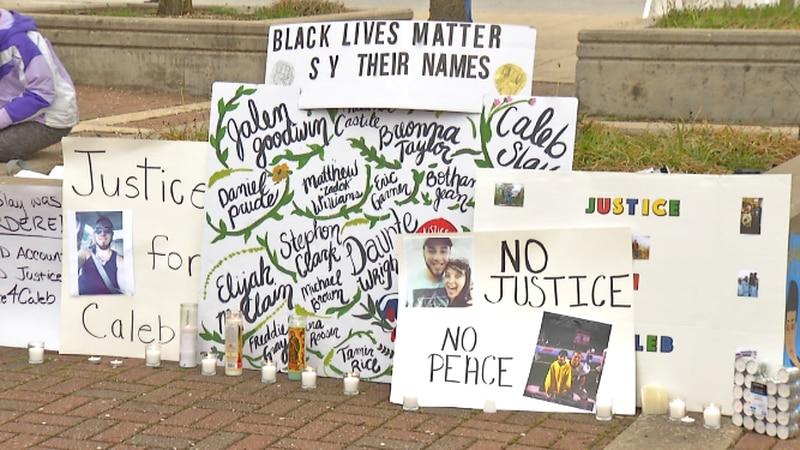 Black Lives Matter of Southwest Missouri holds silent vigil.
