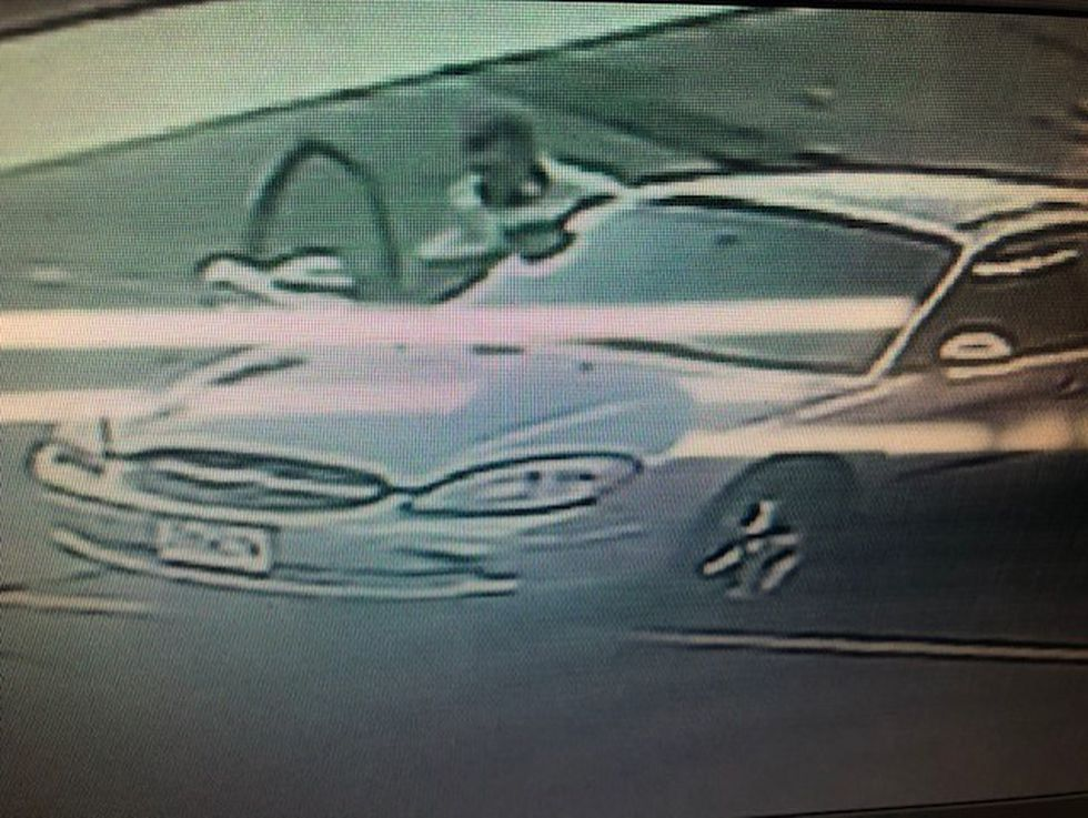 Investigators are looking for an early 2000's model silver Ford Taurus.