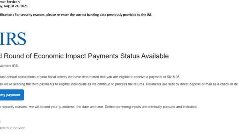 IRS Scam Example