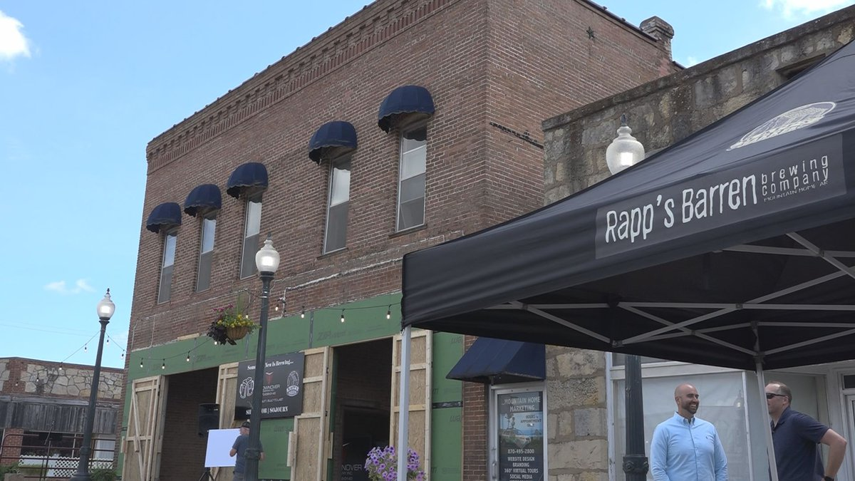 A north Arkansas community wants to give people a reason to come downtown and stay there. And...