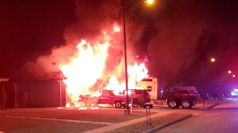 Motorcycle explosion causes house fire in Republic, Mo.
