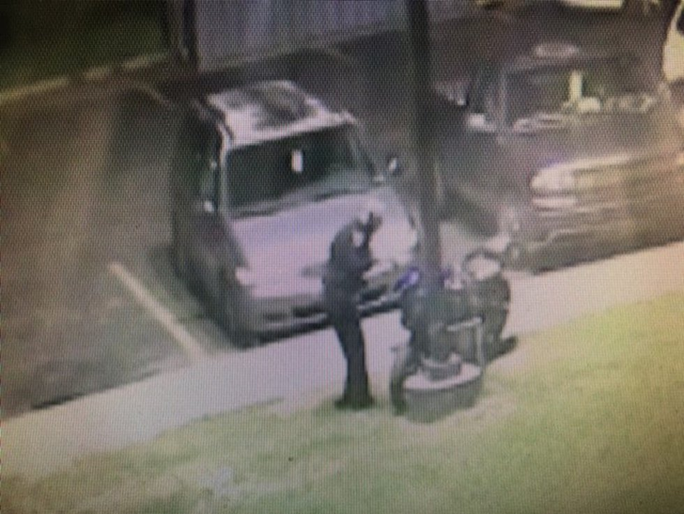 A Springfield police officer found the stolen motorcycle at the John B Hughes Apartments on...