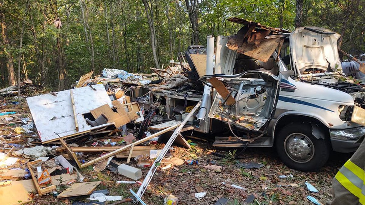 Crews responded to a motorhome explosion on Sunday, Sept. 20 in Barry County.