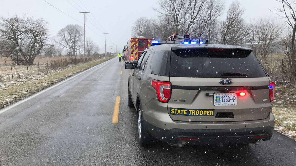 Authorities are investigating a crash with a log truck and a car along Missouri Route 266 near...