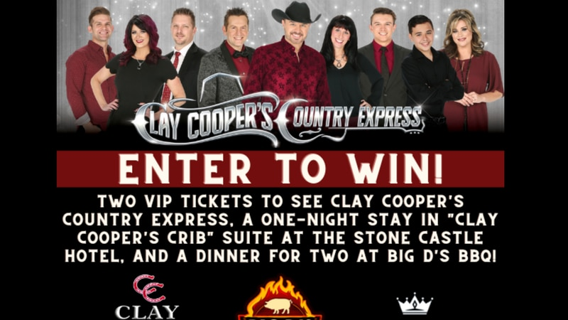 Enter Clay Cooper's Branson Weekend Giveaway for your chance to win two VIP tickets to see Clay...