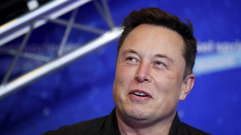 FILE - In this Dec. 1, 2020, file photo, SpaceX owner and Tesla CEO Elon Musk arrives on the...