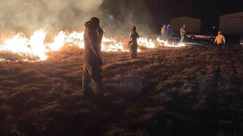 Clever firefighters train to fight brush fires