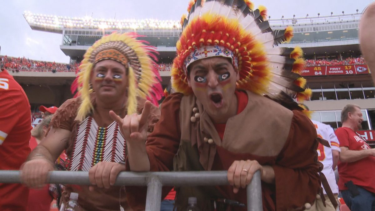 Chiefs fans won't be allowed to wear headdresses and certain face paint at Arrowhead Stadium as...