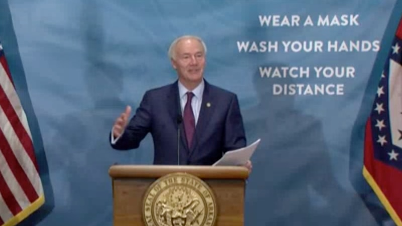 Governor Hutchinson addresses the state.
