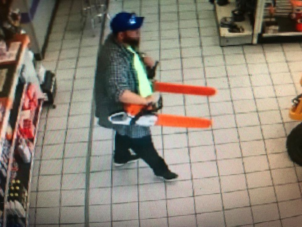Man walks out of Rogersville store with two chainsaws worth more than $2,000.