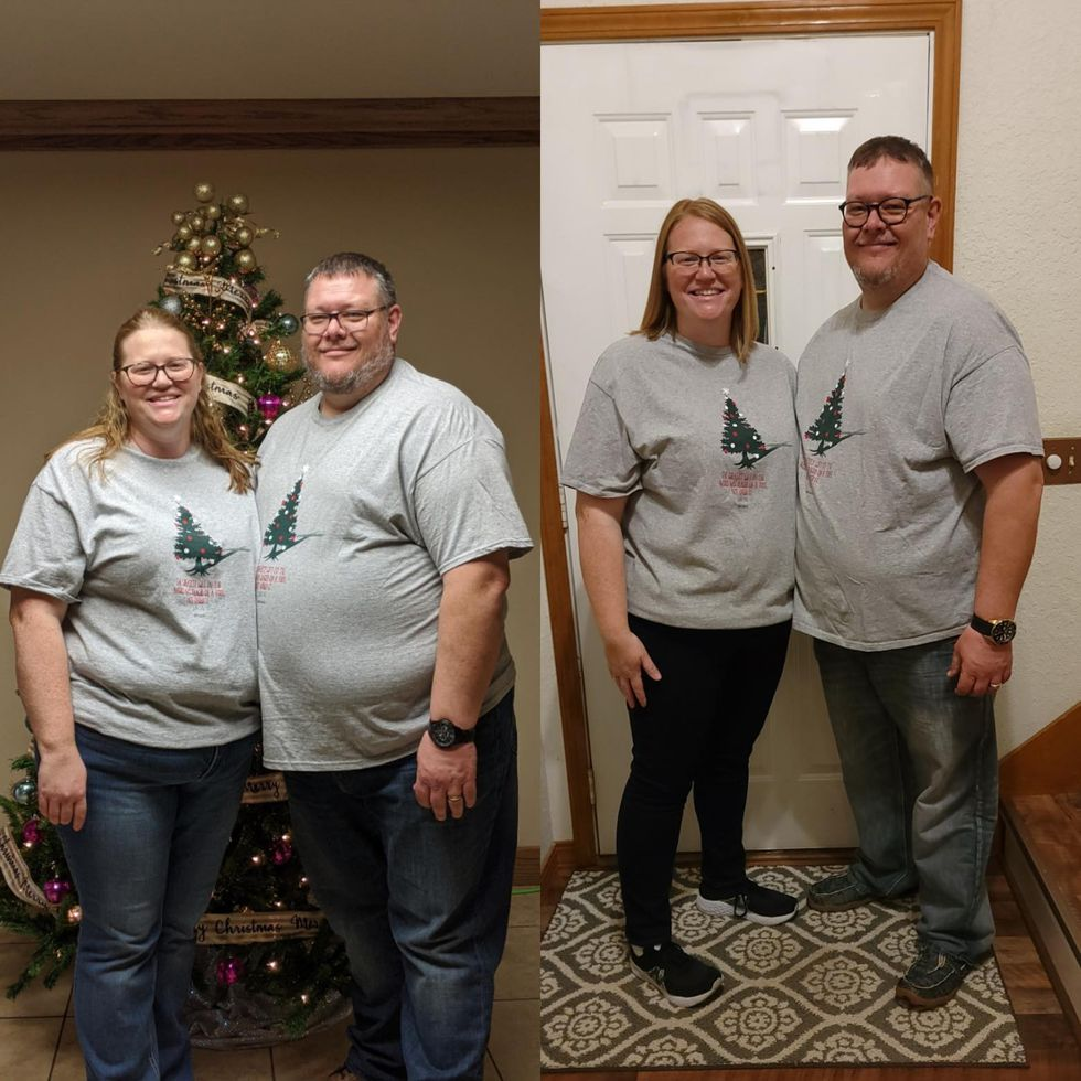 Jason Wendlandt and his wife lost nearly 100 pounds since November.